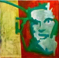 Pensador; oleo sobre tela; 50cm x 50cm